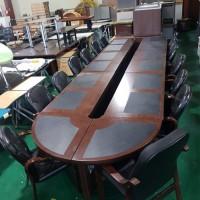 중역 연결형 회의테이블